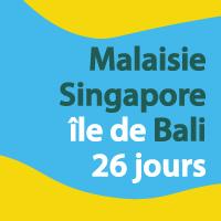 Singapour Malaisie Bali et extension 26 jours