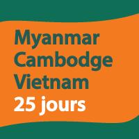 Myanmar Cambodge Vietnam 25 jours